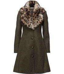 tracey coat wollen jas lange jas groen ida sjöstedt