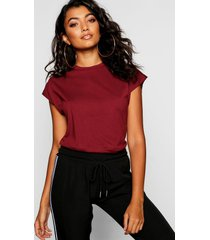 basic cap sleeve t-shirt, wine