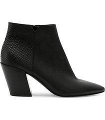 aden leather heeled booties