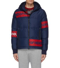 'jacquard' slogan print jacket