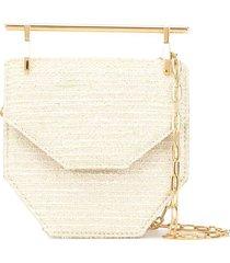 m2malletier mini amor fati shoulder bag - white