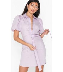 nly trend puff sleeve bow dress loose fit dresses