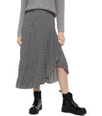 falda eclipse negro - calce regular