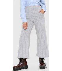 pantalón gris nano palazo lanilla canelon ancho