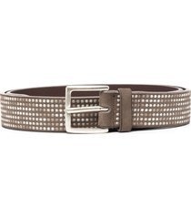 orciani embroidered belt - neutrals