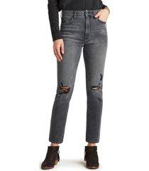 sam edelman denim the stiletto distressed straight-leg jeans