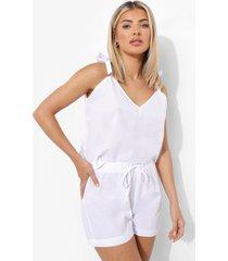 mix & match lichte pyjama shorts, white