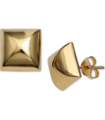 giani bernini polished square stud earrings in 18k gold-plated sterling silver, created for macy's