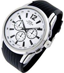 reloj negro montreal caucho