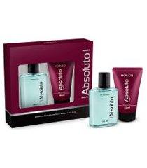 kit fiorucci masculino absoluto deo colônia 100ml + shampoo 3 em 1 150ml único