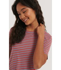 na-kd basic striped viscose tee - red,blue