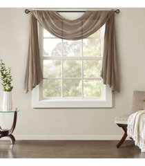 "madison park harper 42"" x 144"" solid crushed sheer scarf valance"