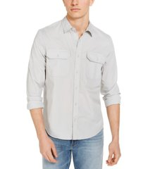 calvin klein jeans men's double-pocket poplin shirt
