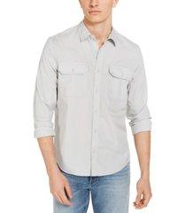 calvin klein jeans men's double-pocket poplin shirt