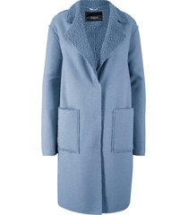 cappotto con interno bouclé (blu) - bpc bonprix collection