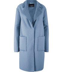 cappotto con interno bouclé (blu) - bpc bonprix collection