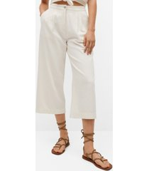 mango women's cotton culottes trousers