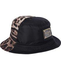 dolce & gabbana leopard print bucket hat
