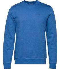 throw c-neck-clean sweat sweat-shirt trui blauw j. lindeberg