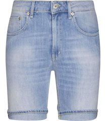 dondup skinny fit denim shorts