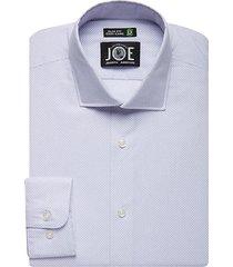 joe joseph abboud men's repreve® lavender check slim fit dress shirt - size: 17 34/35