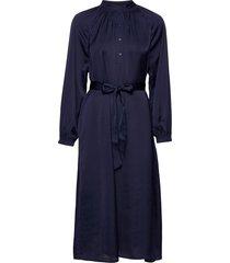 slfharmony ls short dress b jurk knielengte blauw selected femme