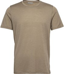 mens tech lite ss crewe t-shirts short-sleeved brun icebreaker
