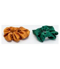 kit 2 scrunchies acetinados | accessories | multicores | u