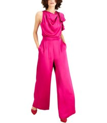inc petite cowlneck wide-leg jumpsuit, created for macy's