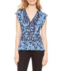 women's parker kata floral print blouse, size xx-small - blue