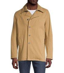 banks journal men's episode camp-collar jacket - bronze - size s