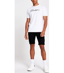 river island mens black skinny denim shorts