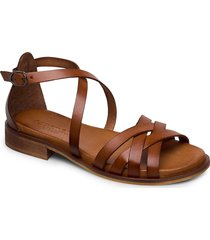 cala shoes summer shoes flat sandals brun pavement