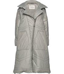 city alpine jacket gevoerde lange jas grijs odd molly
