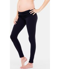 ingrid & isabel(r) active maternity leggings with crossover panel(r), size medium in jet black at nordstrom