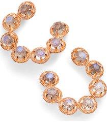 women's nadri cleo vermeil hoop earrings