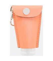chaveiro sintético porta embalagem | satinato | laranja | u