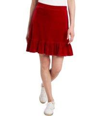 riley & rae lila velvet mini skirt, created for macy's