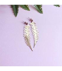 liść paproci- kolczyki