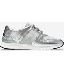 calzado mujer plateado grandpro wedge sneaker cole haan