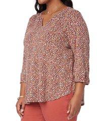 plus size women's nydj perfect t-shirt, size 0x - orange