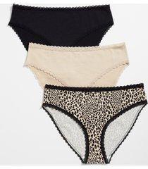 maurices womens 3 pack leopard cotton bikini pantsies