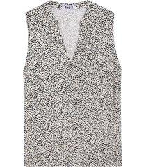 blusa para mujer mini print color café, talla l