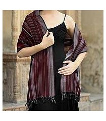 cotton shawl, 'indian wine' (india)