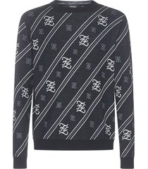 fendi karlgraphy stripes sweater