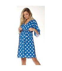 robe gestante curto penélope azul