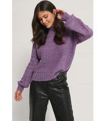 na-kd chunky tröja - purple