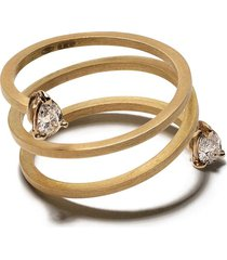 sardo 18kt yellow gold wraparound ring - 18kt yellow gold 028cts