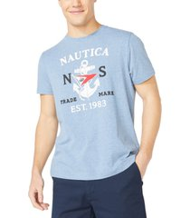 nautica men's big & tall anchor & flag graphic t-shirt