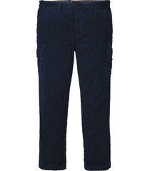 pantaloni cargo in velluto regular fit (blu) - bpc selection